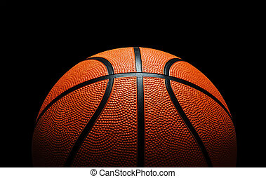 Basketball against black