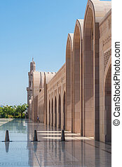 Arches of Sultan Qaboos Grand Mosque, Muscat, Oman