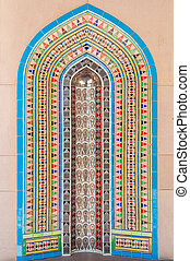 Decorative tiles in a mosque, Muscat, Oman