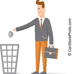 Character cartoon businessman concept man, Flat design -...