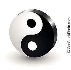 Yin Yang symbol icon isolated on white background