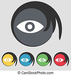 Eye, Publish content, sixth sense, intuition icon sign....