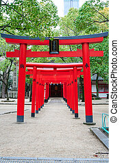 Red Japanese Temple gate