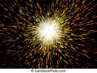 Big Bang - Illustration of the Begining of the Universe