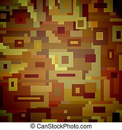 Cubism - Abstract Illustrated background made of brown...