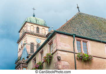 Old medieval church in Alsace, France