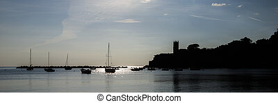 Silhouette in Sestri Levante - Backlit in the Baia del...