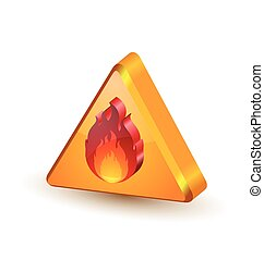 Warning fire icon