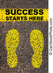 Success Starts Here Conceptual image - Conceptual image with...