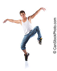 Male dancer Isolated on white