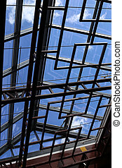 Modern skylight construction - abstract architectural.