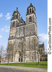 Cathedral in Magdeburg, Germany - Cathedral in Magdeburg,...