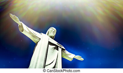 Christ the Redeemer statue in Ro de Janeiro in Brazil