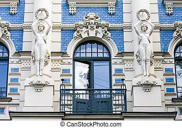 Jugendstil house in Riga, Latvia - Jugendstil house in the...
