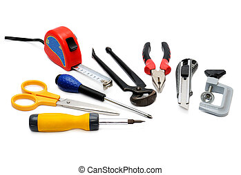Tools isolated on a white background...