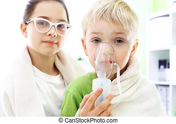Cold or flu? - Siblings inhalation during home treatment