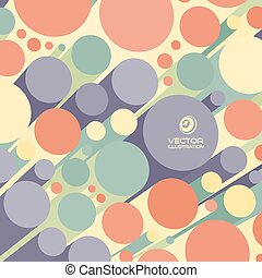 Abstract 3d background with colorful cylinders. Can be used...