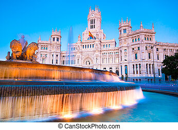 Plaza de Cibeles, Madrid, Spain. - Plaza de la Cibeles,...
