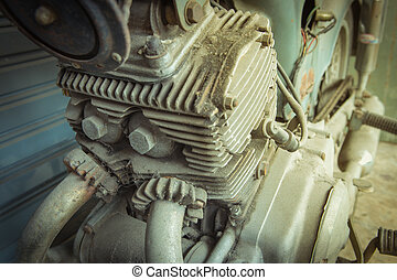 morotcycle - The old motorcycle engine block