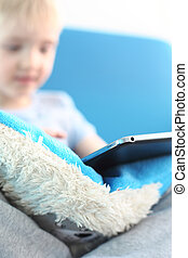 Child playing online games