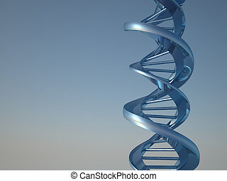 DNA - Conceptual chemistry scene - DNA structure - 3d render...
