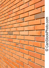 Brick wall texture background - side view