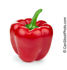 red pepper over white background