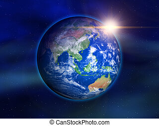 Earth from space - Illustration of the earth seen from space...