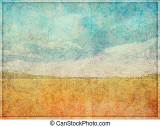 Faded Textured Abstract Landscape Background - Illustration...