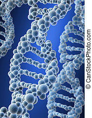 DNA - Conceptual DNA structure on blue background - 3d...