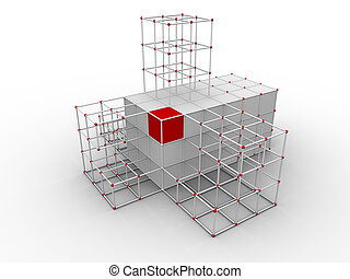 Arhitecture design - Illustration of an abstract building...