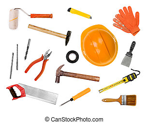工具, 白色, 集合,  -, 被隔离