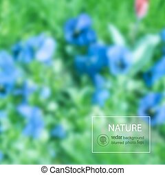 Floral blurred photo background