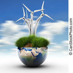 Windturbine and Earth