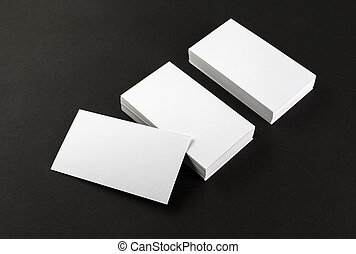 Blank business cards - Photo of blank business cards on a...