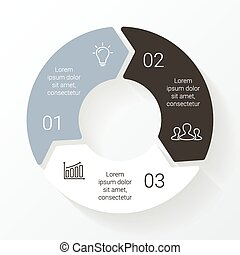 Vector line circle arrows infographic Template for cycle...