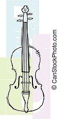 Sketchy Violin - A sketchy image of a violin or viola...
