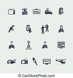 Set of news icons