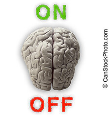 Brains - Illustration of a brain which can be switched on...