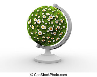 Environment concept - Conceptual Earth globe filled with...