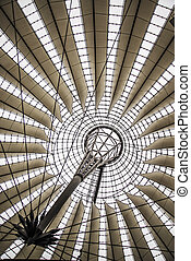 Potsdamer Platz - the modern dome at Potsdamer Platz in...