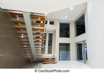 Entry to modern luxurious mansion - Entry in contemporary...