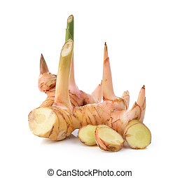 galangal on white background