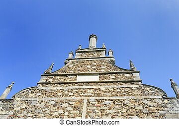 Elizabethan gable - Looking up at Elizabethan gable