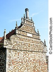 Elizabethan gable end - Spectacular Elizabethan gable end