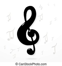 Treble clef. Vector Eps10