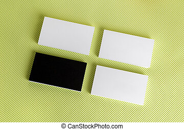 Stacks of business cards - Photo of blank business cards on...
