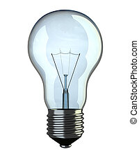 Light bulb - Illustration of traditional light bulb isolated...