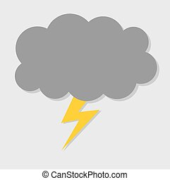 Bolt cloud. Vector illustration