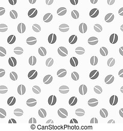Coffee beans seamless vector texture